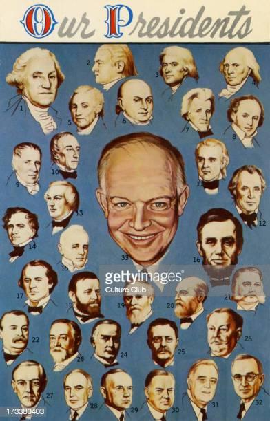 United States Presidents Eisenhower center Other presidents listed 1 George Washington 2 John Adams 3 Thomas Jefferson 4 James Madison 5 James Monroe...