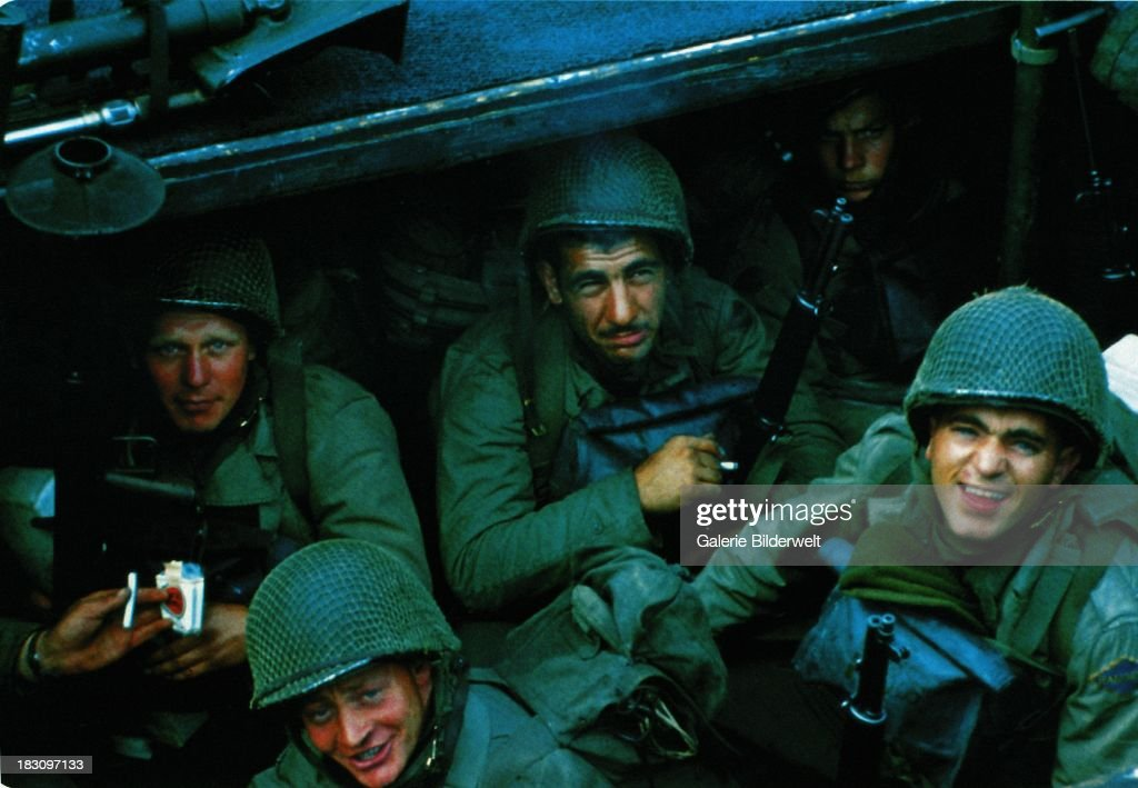 US Rangers Bound For Normandy : News Photo