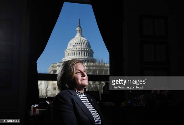 United States Representative Ileana RosLehtinen poses for a portrait in her office in the Rayburn House Office Building on Thursday March 16 2017 in...