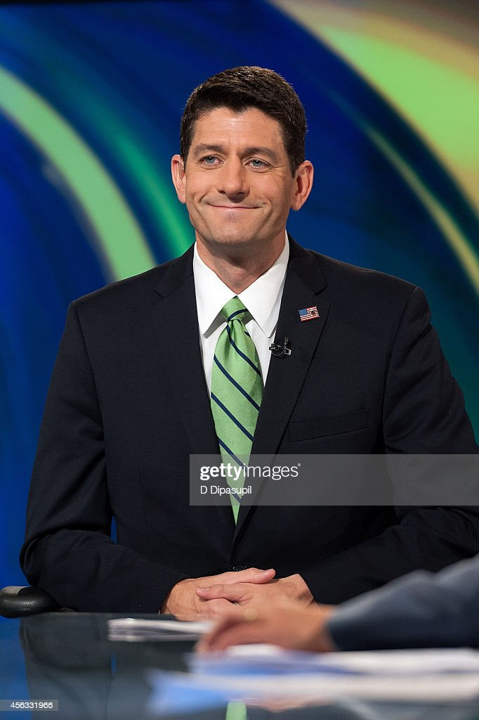 United States Representative Paul Ryan visits FOX Studios on September 29, 2014 in New York City.