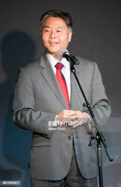 United States Representative Ted Lieu speaks onstage during District Advocate DayLos Angeles on October 18 2017 in Santa Monica California