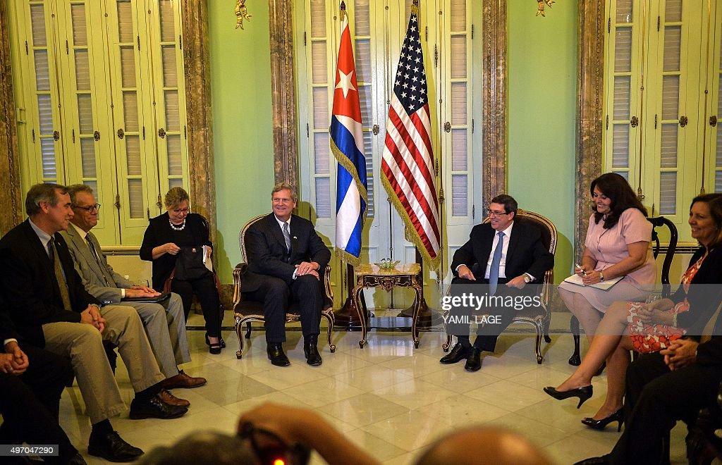 CUBA-US-VILSACK-BRUNO RODRIGUEZ : News Photo