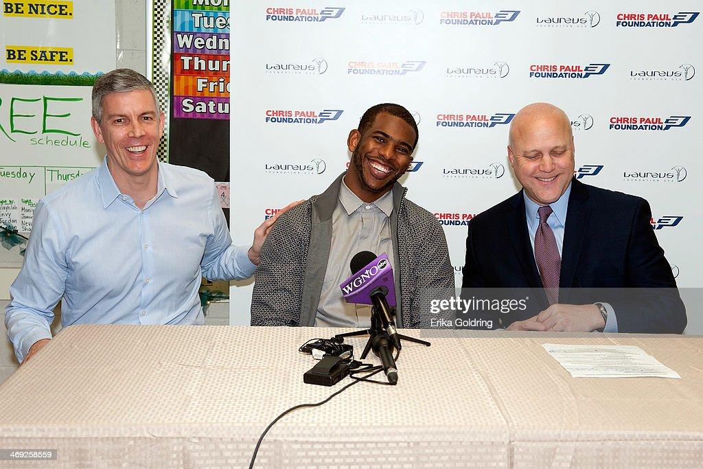 Chris Paul Laureus Sport for Good Foundation USA Induction - NBA All-Star Weekend 2014