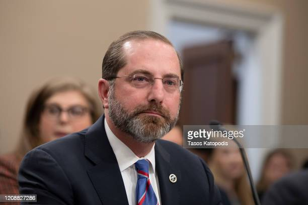 United States Secretary of Health and Human Services Alex Azar testifies before the House Appropriations Committee on February 26, 2020 in...