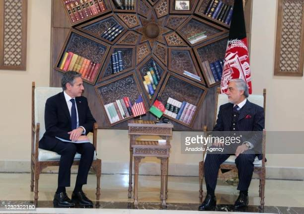 United States Secretary of State, Antony Blinken meets Chairman of the High Council for National Reconciliation Abdullah Abdullah on the withdrawal...