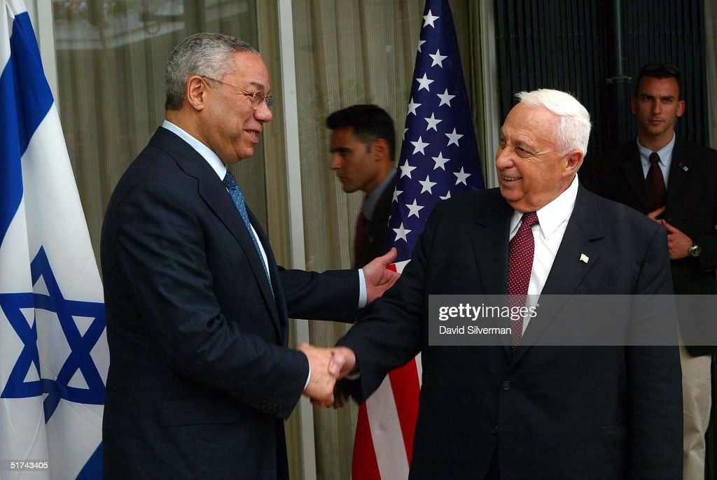 Colin Powell And The Israeli-Palestinian Conflict : Nachrichtenfoto