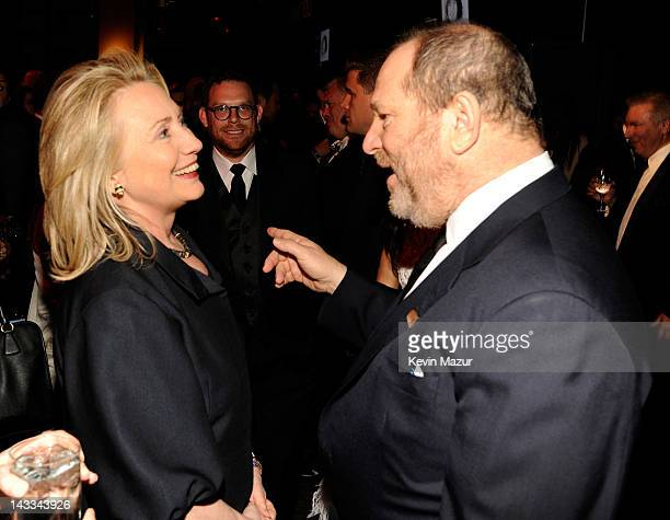 United States Secretary of State Hillary Clinton Georgina Chapman and Harvey Weinstein attend the TIME 100 Gala celebrating TIME'S 100 Most...