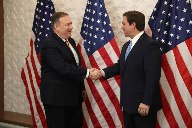 FL: Secretary Of State Mike Pompeo Participates In Roundtable With Florida Governor Ron DeSantis In Miami