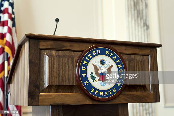 united states senate podium at capitol hill - house of representatives stock pictures, royalty-free photos & images