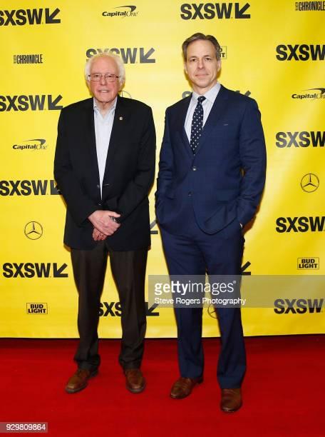 United States Senator Bernie Sanders and CNN's Jake Tapper attend CNN's Jake Tapper in conversation with Bernie Sanders during SXSW at Austin...