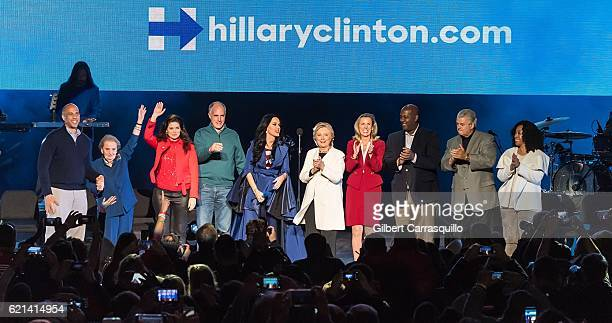 United States Senator Cory Booker Former United States Secretary of State Madeleine Albright actress Debra Messing and Member of the United States...