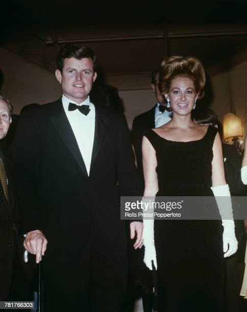 United States Senator from Massachusetts Ted Kennedy and his wife Joan Bennett Kennedy attend a performance at the Metropolitan Opera in New York in...