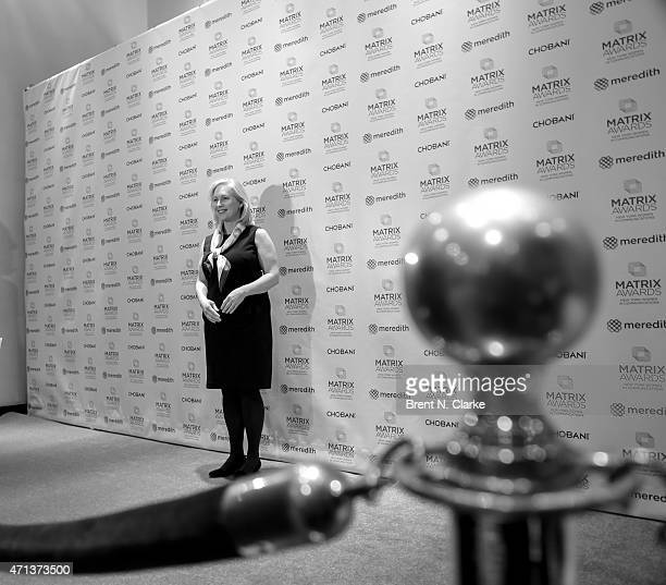 United States Senator from New York and event honoree Kristen Gillibrand arrives for the 2015 Matrix Awards held at The Waldorf=Astoria on April 27...