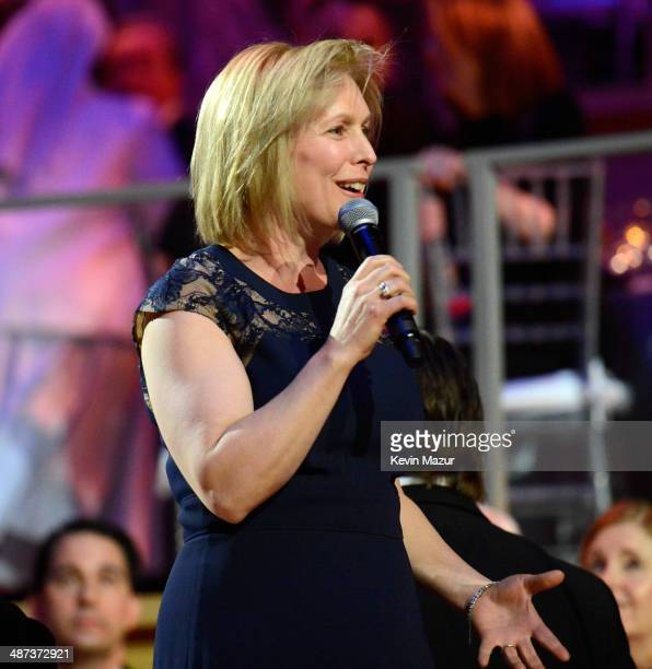 United States Senator from New York Kirsten Gillibrand speaks at the TIME 100 Gala TIME's 100 most influential people in the world at Jazz at Lincoln...