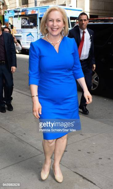 United States Senator Kirsten Gillibrand is seen on April 13 2018 in New York City