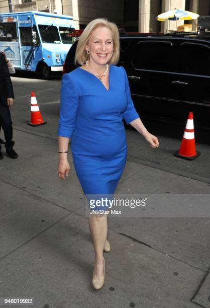 United States Senator Kirsten Gillibrand is seen on April 13, 2018 in New York City.