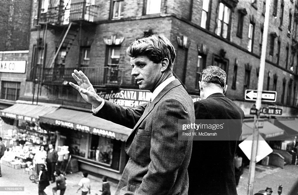 RFK Campaigns In Harlem : News Photo
