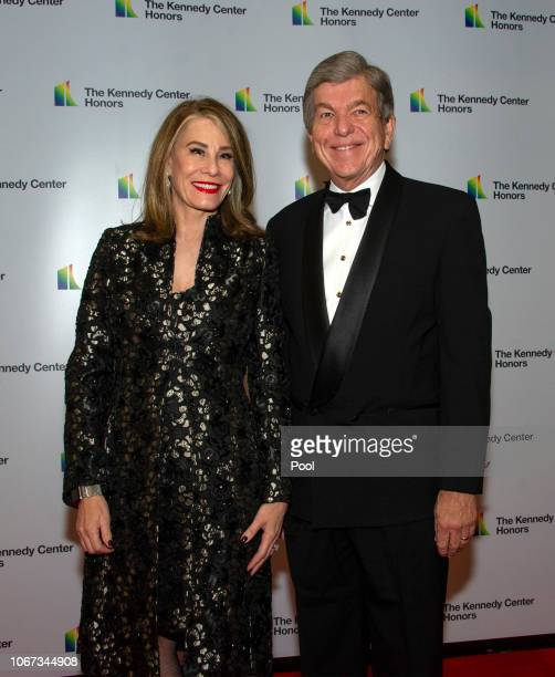 United States Senator Roy Blunt and his wife Abigail arrive for the formal Artist's Dinner honoring the recipients of the 41st Annual Kennedy Center...