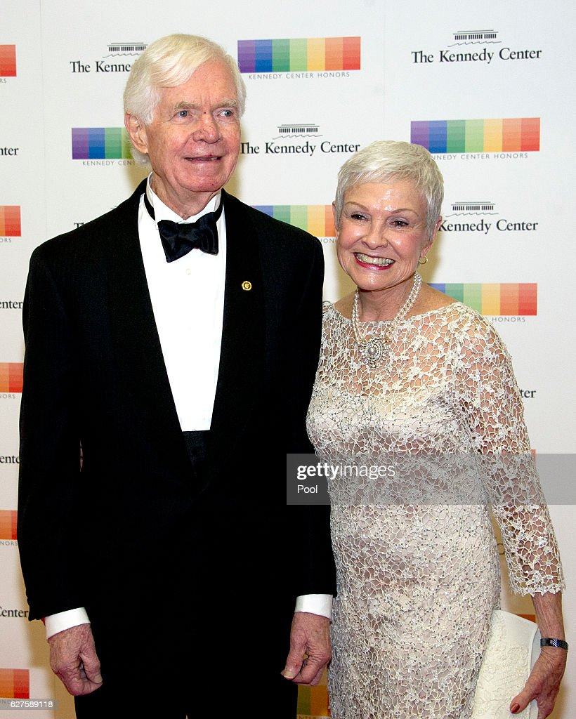 United States Senator Thad Cochran (Republican of Mississippi) and his wife, Kay Webber, arrive for the formal Artist's Dinner honoring the recipients of the 39th Annual Kennedy Center Honors hosted by United States Secretary of State John F. Kerry at the U.S. Department of State on December 3, 2016 in Washington, D.C. The 2016 honorees are: Argentine pianist Martha Argerich; rock band the Eagles; screen and stage actor Al Pacino; gospel and blues singer Mavis Staples; and musician James Taylor.