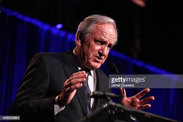 United States Senator Tom Harkin speaks on stage at The Christopher Dana Reeve Foundation 'A Magical Evening' on November 20 2014 in New York City