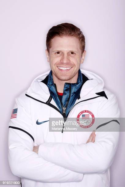 United States Skeleton team member John Daly poses for a portrait on the Today Show Set on February 16 2018 in Gangneung South Korea