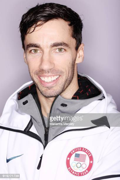 United States Skeleton team member Matt Antoine poses for a portrait on the Today Show Set on February 16 2018 in Gangneung South Korea