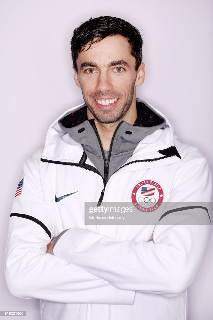United States Skeleton team member Matt Antoine poses for a portrait on the Today Show Set on February 16, 2018 in Gangneung, South Korea.