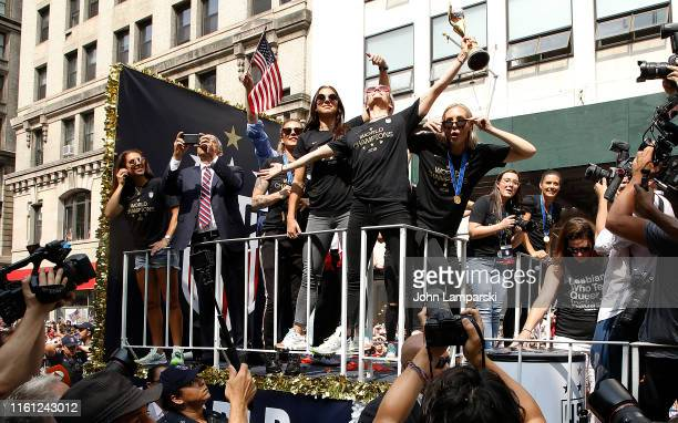 United States Soccer Federation president Carlos CordeiroMegan Rapinoe Alex Morgan and Allie Long celebrate US Women's National Soccer Team Victory...