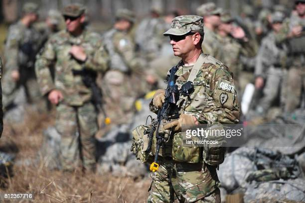 United States soldiers from the 3rd Battlion 21st Infantry Regiment of the 1st Stryker Brigade Combat Team arrive in Shoalwater Bay Training Area...