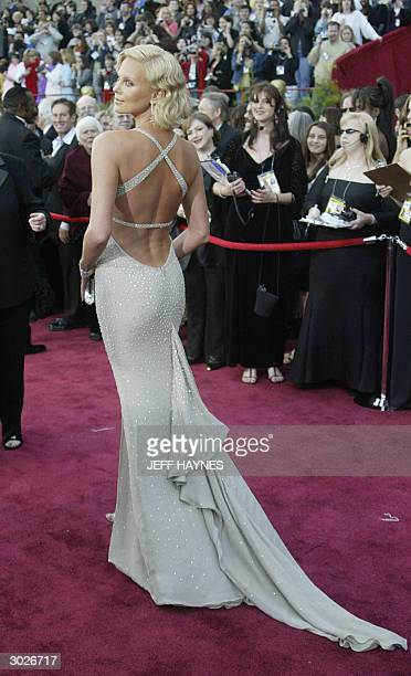 United States: South African actress Charlize Theron arrives for the 76th Academy Awards ceremony 29 February, 2004 at the Kodak Theater in...