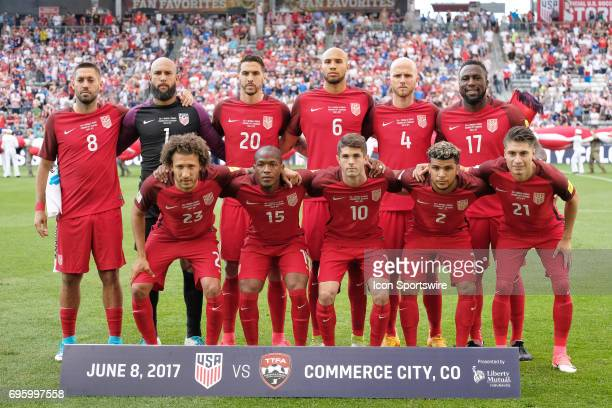 United States starting eleven pose for a picture during the FIFA 2018 World Cup Qualifier match between the United States and Trinidad Tobago on June...