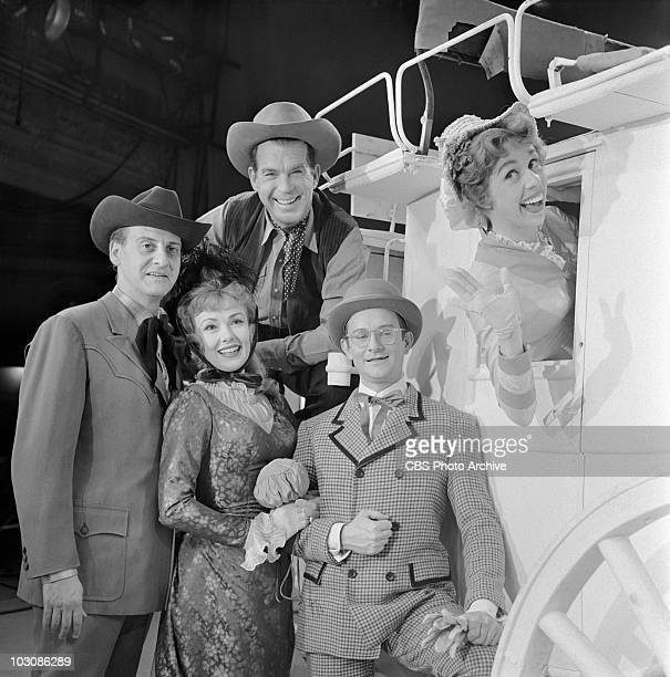 United States Steel Hour From left Hans Conreid Edie Adams Fred MacMurray Wally Cox and Carol Burnett in American Cowboy Image dated November 20 1959