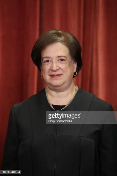 United States Supreme Court Associate Justice Elena Kagan poses for the court's official portrait in the East Conference Room at the Supreme Court...