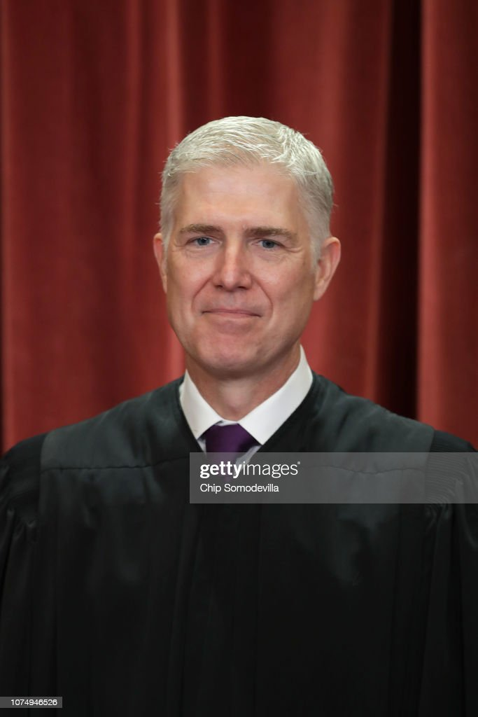 U.S. Supreme Court Justices Pose For Official Group Portrait : News Photo