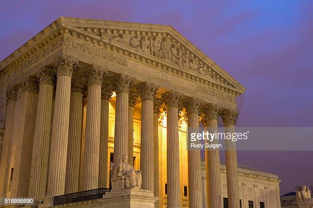 united states supreme court at twilight - supreme court stock pictures, royalty-free photos & images