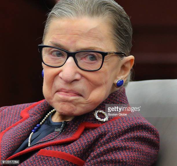 United States Supreme Court Justice Ruth Bader Ginsburg speaks during an event at Roger Williams University Law School in Bristol RI on Jan 30 2018