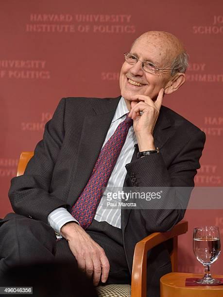 United States Supreme Court Justice Stephen Breyer speaks at the Harvard University Institute of Politics John F Kennedy School of Government John F...