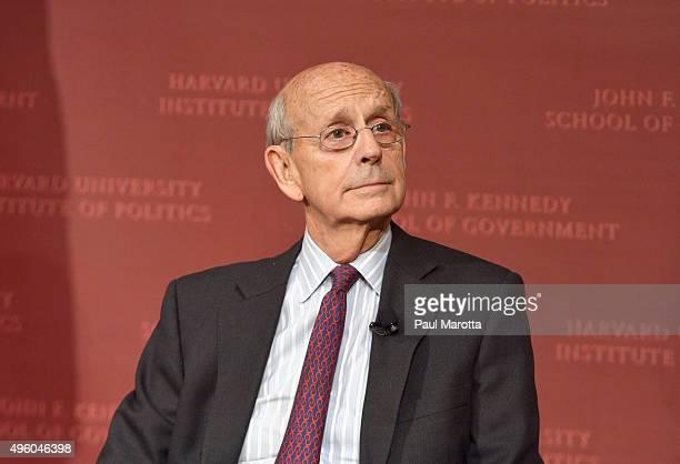 United States Supreme Court Justice Stephen Breyer speaks at the Harvard University Institute of Politics John F. Kennedy School of Government John...