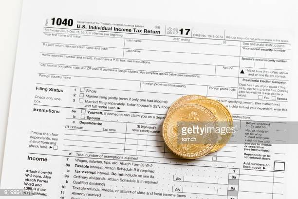 united states tax return - 1040 tax form stock photos and pictures