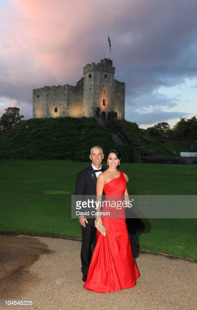 United States Team captain Corey Pavin with his wife Lisa Pavin during the 2010 Ryder Cup Dinner at Cardiff Castle on September 29, 2010 in Cardiff,...