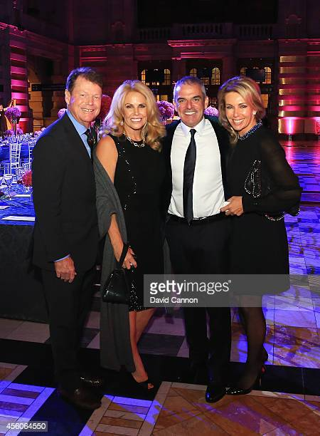 United States team captain Tom Watson and wife Hilary pose with Europe team captain Paul McGinley and wife Allison during the 2014 Ryder Cup Gala...