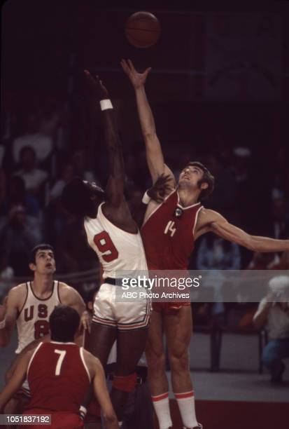 United States team vs Soviet team, competing in the Men's basketball tournament at the 1972 Summer Olympics / the Games of the XX Olympiad,...
