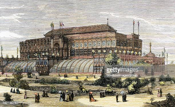 United States, The Centennial International Exhibition of 1876 in Philadelphia, Horticultural Hall, The Spanish and American Illustration .