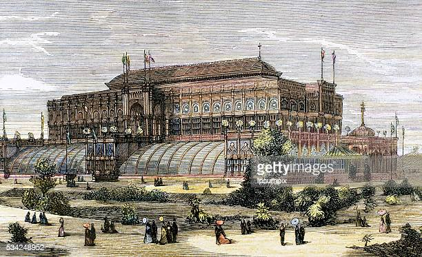 United States The Centennial International Exhibition of 1876 in Philadelphia Horticultural Hall The Spanish and American Illustration