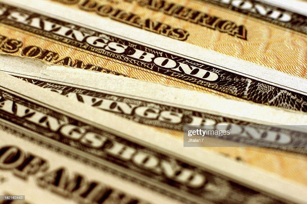 Tesouraria Estados Unidos (EE de economia) Bond-Horizontal Close-Up : Foto de stock