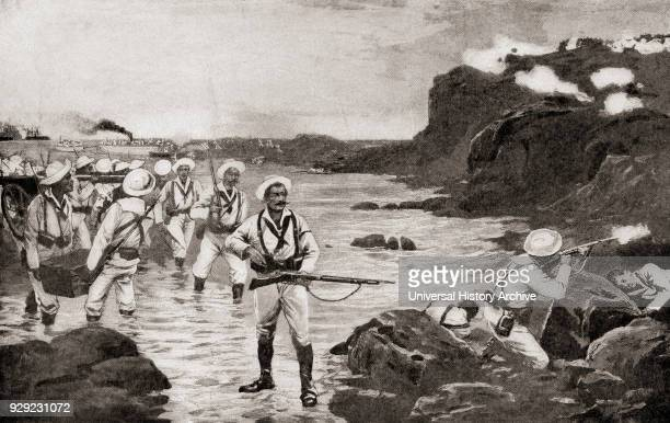 United States troops landing at Cienfuegos Cuba during the SpanishAmerican war 1898 From The History of Our Country published 1900