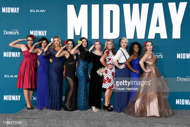 United States Veterans attend the premiere of Lionsgate's Midway at Regency Village Theatre on November 05 2019 in Westwood California