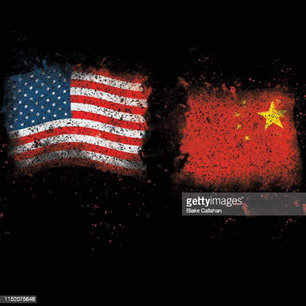 united states vs china trade war theme - china trade war stock pictures, royalty-free photos & images