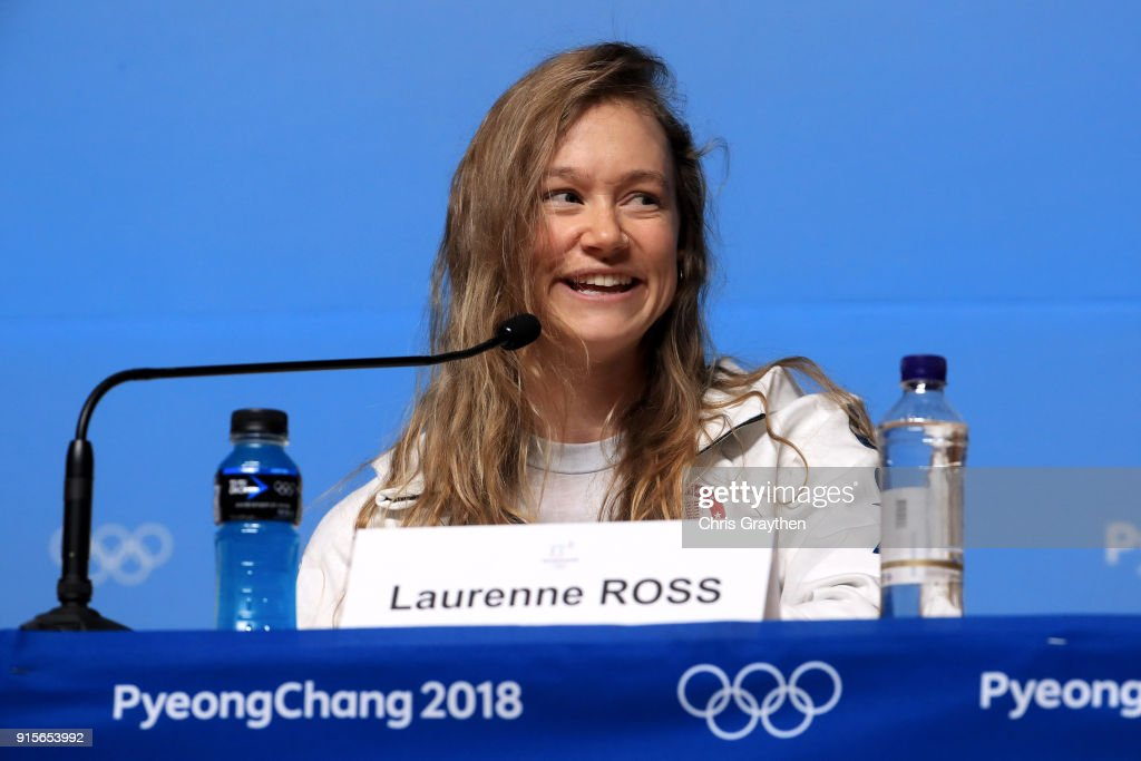 United States Women's Alpine Speed Skier Laurenne Ross attends a press conference at the Main Press Centre during previews ahead of the PyeongChang 2018 Winter Olympic Games on February 8, 2018 in Pyeongchang-gun, South Korea.