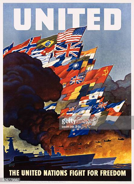 United The United Nations Fight for Freedom Poster by Leslie Ragon